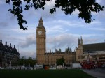 Big Ben from inside Parliament Square
