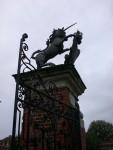 Artistic shot of the gate unicorn