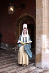 Costumed guide at Hampton Court Palace