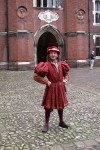 Another costumed guide at Hampton Court Palace
