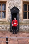 On guard outside the Crown Jewels - mighty big gun for such a young-looking soldier!