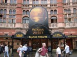 The Woman in White marquee - the woman disappears...