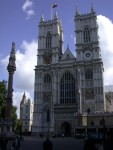 The front of Westminster Abbey, which is the exit of the tour