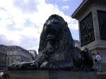 The gigantic lions at Trafalgar Square - I would have climbed up for a photo like everyone else, but I was wearing a skirt...