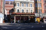 Daylight view of the Black Lion on Bayswater Road, where we had eaten dinner one evening