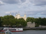 The Tower of London as seen from the south bank of the Thames