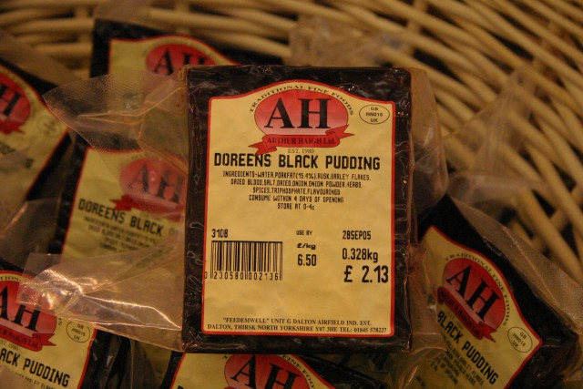 We had been eating black pudding throughout Scotland & Cumbria, so now we finally found out what was in it... :)