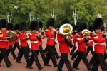 The Queen's Guard on their way back from being