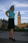 Britta dwarfing Big Ben