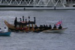 I videotaped the whole flotilla, and Ben took these photos.  This is the boat dressed as the coffin boat was 200 years ago.