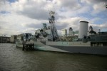 Ben's best shot of the HMS Belfast (I forgot to take one of the full view of the ship - doh)