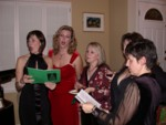 Singing around the piano: Lucy, Britta, Sheila, Kat & Barbara