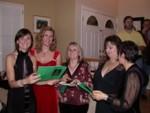 Singing around the piano: Lucy, Britta, Sheila, Kat & Barbara
