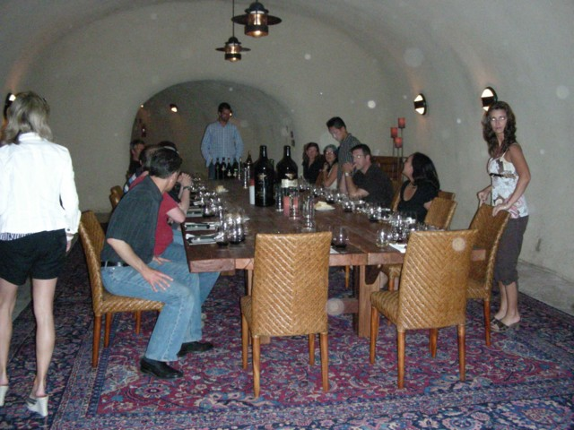 Wine tasting cave at Miner Family Winery