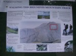 Posted pamphlet warning of how many people die each year attempting to reach the summit...