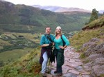 Ben & Britta in front of Glen Nevis