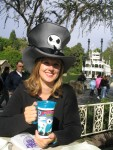 Britta likes silly hats - could you tell? Disneyland 2004