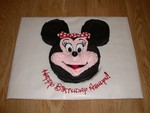 3D Minnie Mouse birthday cake I made for Ashlyn's 8th birthday (Nov 2005)