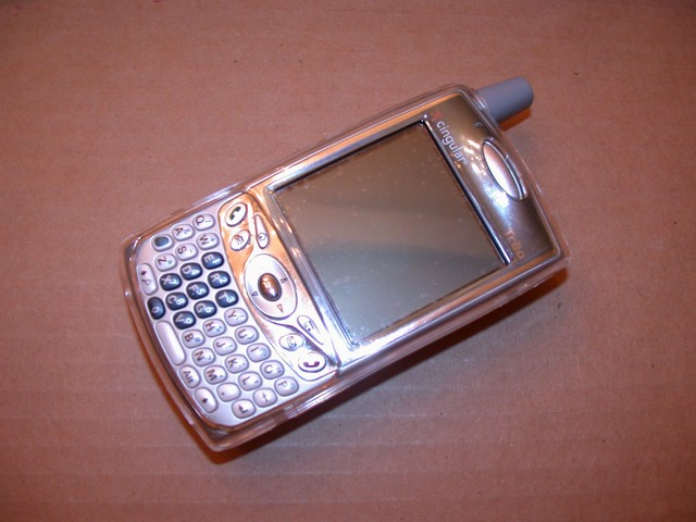 Treo in clear plastic case before tealification