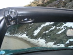 Beautiful weather for top-down driving, but there was still snow at Mt Hamilton!