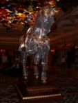 Sparkly horse in the Bellagio lobby