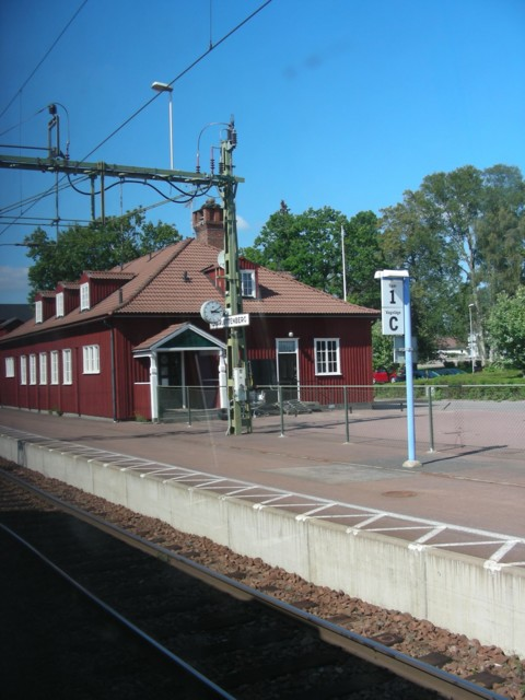 First train stop in Sweden!