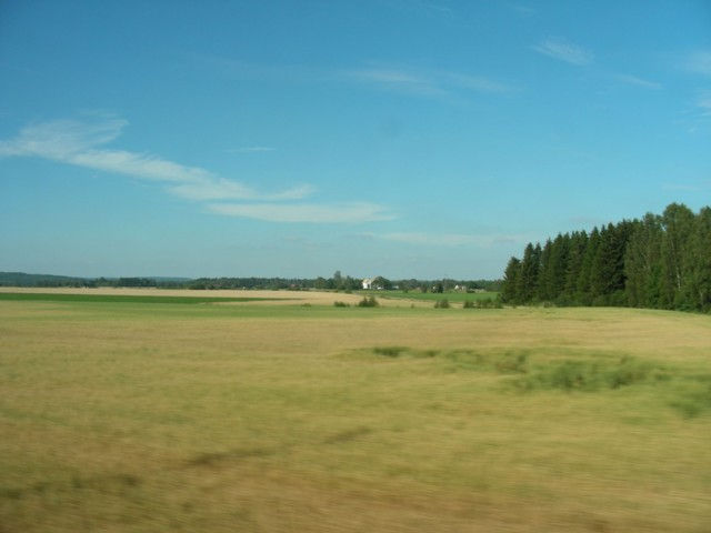 On the train from Oslo to Stockholm - in Sweden