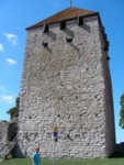 Tower wall in Old Town Visby Gotland Sweden
