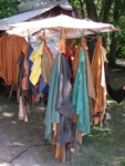 Medieval festival in Old Town Visby Gotland Sweden - yes I was tempted by the teal leather! ;)