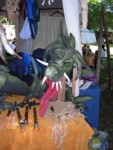 Cool fabric dragon at the medieval festival in Old Town Visby Gotland Sweden