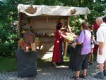 Elderflower juice at the medieval festival in Old Town Visby Gotland Sweden