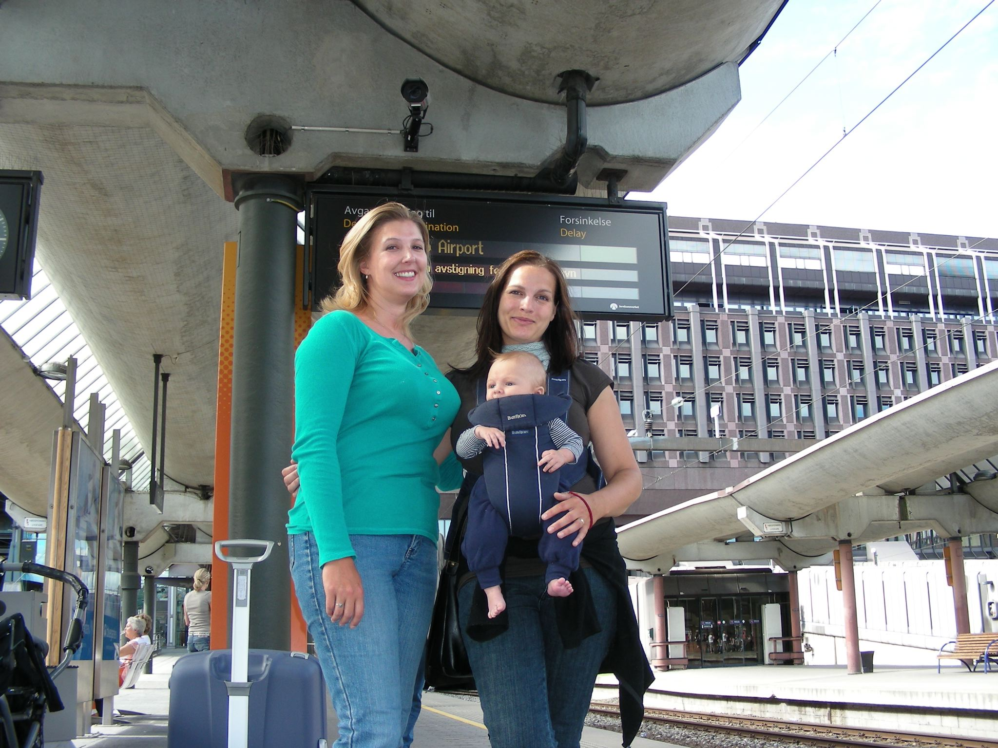 Britta, Teje & Sixten saying goodbye at the Oslo train station