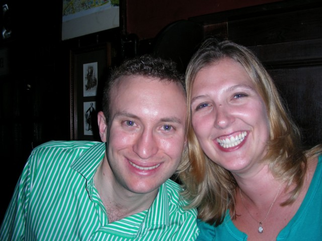 Ryan & Britta at the Windsor Castle Pub