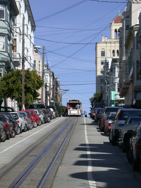 Cable car in its natural habitat