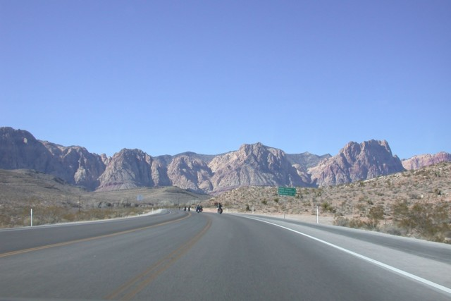 On the road to Red Rock Canyon