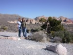 Britta & Amanda at yet another stop at Red Rock Canyon