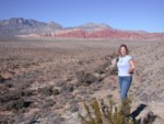 Britta at Red Rock Canyon - the entry view