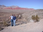 Britta & Amanda at Red Rock Canyon - the entry view