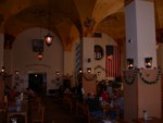Inside the replica Hofbrauhaus - not nearly as large as the Munich original!