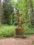 Statue of Diana in Diana's Gardens at Blair Castle
