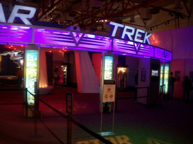 Entrance to the Trek exhibit at the Tech museum