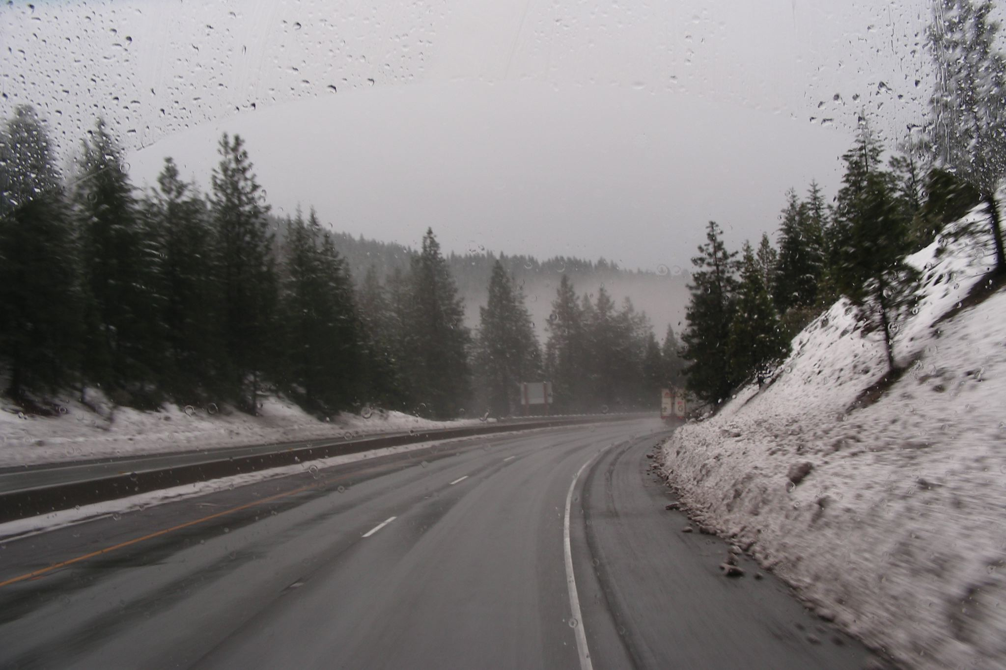 South of Dunsmuir was even colder than the Siskiyou Summit