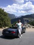 Beautiful Yosemite behind Britta and the BRIATA